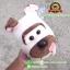 ตุ๊กตาหมาปอกคอสีเขียว ท่านั่ง 9 นิ้ว [Little Cucu] thumbnail 4