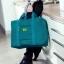 Casey Fashionist กระเป๋าพับได้ใบหญ่ สามารถนำไปติดกับกระเป๋าเดินทางล้อเลื่อนได้ ทน ใส่ของได้เยอะ (สีฟ้าทะเล) thumbnail 5