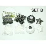 Set B (พิกุล, ดาว, ส้ม, กุหลาบบาน ชนิดละ 25 ชิ้น)
