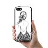 เคส iPhone 5 5s SE โลโก้ ผู้หญิงหันหลังสวย เคสสวย เคสโทรศัพท์ #1110