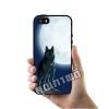 เคส iPhone 5 5s SE โลโก้ หมาป่าดวงจันทร์ เคสสวย เคสโทรศัพท์ #1129