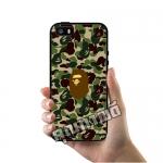 เคส ซัมซุง iPhone 5 5s SE โลโก้ BAPE ลิง ลายพราง เคสสวย เคสมือถือ #1003