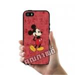 เคส ซัมซุง iPhone 5 5s SE มิกกี้เมาส์ พื้นแดง เคสน่ารักๆ เคสโทรศัพท์ เคสมือถือ #1029