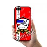 เคส ซัมซุง iPhone 5 5s SE เคส ทีมฟุตไทย ช้างศึก โลโก้ พื้นแดง เคสฟุตบอล เคสมือถือ #1021