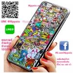เคส ไอโฟน 6 / เคส ไอโฟน 6s โลโก้ สติ๊กเกอร์รวม เคสสวย เคสมือถือ #1008