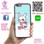 เคส ViVo Y53 ยางซิลิโคน กระต่ายโคนี่ เล่นสกี เคสน่ารักๆ เคสโทรศัพท์ เคสมือถือ #1104