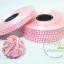 ริบบิ้นพิมพ์ลายหัวใจ สีชมพู เบอร์ 2 ตรามงกุฎ (ยาว 100 หลา กว้าง 1.2 cm) thumbnail 1
