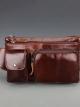 กระเป๋าคาดเอว หรือ กระเป๋าคาดอก ผู้ชาย ผลิตจากหนังวัวแท้ เหมาะเป็นกระเป๋าพกพา