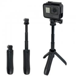 SHORTY Mini Selfie Stick Tripod Extendable Monopod Mount (RED)