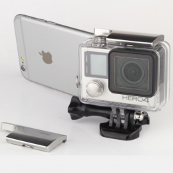 UPPER LOCK BUCKLE HOUSING (ALUMINIUM) FOR GOPRO HERO 4 / 3+ สีเงิน
