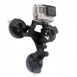Triple Angle Camera Sucker Mount Holder