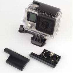 UPPER LOCK BUCKLE HOUSING (ALUMINIUM) FOR GOPRO HERO 4 / 3+ สีดำ