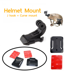 J Hook + Curve Mount For Gopro And Action Camera