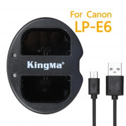 KingMa LP-E6 E6 Dual Channel USB Charger