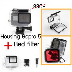 Housing Gopro 5 + red filter