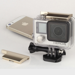UPPER LOCK BUCKLE HOUSING (ALUMINIUM) FOR GOPRO HERO 4 / 3+ สีทอง