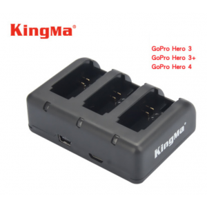 Kingma 3 slots Charger For Gopro 3/3+/4