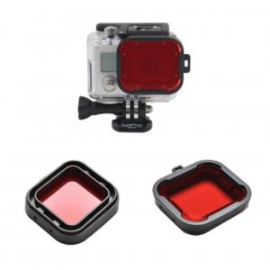 RED Filter ฟิลเตอร์สี FOR GOPRO HERO 4 / 3+