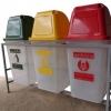แท่นวางถังขยะ 60 ลิตร 3 ช่อง ไม่มีป้ายแผงหลัง