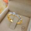 แหวนดีไซน์แบบก้านเกลียว(เพชรแท้กลาง 10 สต)
