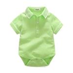 บอดี้สูทเด็ก โปโล คอปก สีเขียว