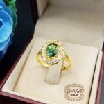 แหวนพลอย ประดับ Green Sapphire
