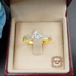แหวนเพชรดีไซน์หัวชู สไตล์คลาสสิค (แหวนไขว้)