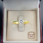 แหวนเพชรดีไซน์เม็ดเดียว (4 เตย)