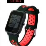 สายนาฬิกา Amazfit Bip ยางซิลิโคน รุ่น BS1 | ดำ-แดง