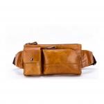 สินค้าขายดี กระเป๋าคาดอก & กระเป๋าคาดเอว สำหรับผู้ชายเท่ห์ๆ ผลิตจากหนังวัวแท้ทั้งใบ
