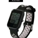 สายนาฬิกา Amazfit Bip ยางซิลิโคน รุ่น BS1 | ดำ เทา