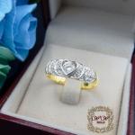 แหวนเพชรดีไซน์หัวใจเรียงชั้นสวย