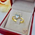 แหวนดอกไม้ (เพชรสวิส cz)