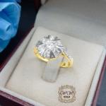 แหวนดีไซน์เพชรล้อมสวยระยิบ (เพชรสวิส cz)
