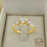 แหวนเพชรดีไซน์ดอกไม้ (ดอกบัว)