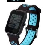 สายนาฬิกา Amazfit Bip ยางซิลิโคน รุ่น BS1 | ดำ น้ำเงิน