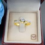 แหวนเพชรดีไซน์ดอกไม้ (กุหลาบ)