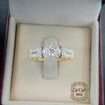 แหวนดีไซน์เพชรประกบ เรียงสวยระยิบ (Big ก้านชิด)