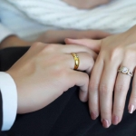 แหวนคู่แต่งงาน ทองแท้ 18K ประดับเพชรเบลเยี่ยม