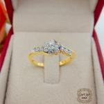 แหวนเพชรดีไซน์ดอกไม้ (ใบไม้)