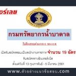 กรมทรัพยากรน้ำบาดาล เปิดรับสมัครสอบเป็นพนักงานราชการ จำนวน 19 อัตรา ตั้งแต่วันที่ 13 กุมภาพันธ์ - 5 มีนาคม 2561