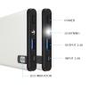 แบตเตอรี่สำรอง AmanGo รุ่น Slim Ultimate A14 ความจุ 14000 mAh แท้100% ชาร์จเร็ว 2.4A