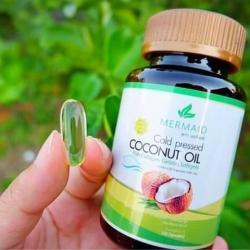 น้ำมันมะพร้าวสกัดเย็น เมอร์เมด Coconut Oil Cold Pressed By Mermaid ราคาส่งตั้งแต่ชิ้นแรก