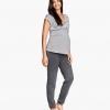 กางเกงคนท้อง H&M jersey pant สีเทาไซส์สะโพก 36-44 นิ้ว