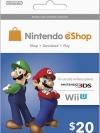 Nintendo eShop Card 20 US