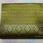 ผ้าถุงไหมเกษตร (ผ้าไหมรับไหว้) เนื้อดี ราคาถูก สีเขียวเหลือง ขนาด 2 หลา