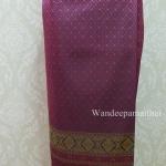 ผ้าถุงไหมสำเร็จรูป สีม่วงอมชมพู เอว38 นิ้วเลื่อนได้ถึง40 นิ้ว