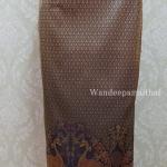 ผ้าถุงไหมสำเร็จรูป สีม่วงอมชมพู เอว30 นิ้วเลื่อนได้ถึง32 นิ้ว