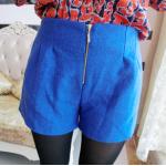 กางเกงขาสั้นแฟชั่นมาใหม่ มีให้เลือกถึง 4 สี ผ้าเนื้อหนา ใส่ไปชิลที่ไหนก็สบายๆ - น้ำเงิน