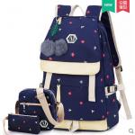 กระเป๋าเป้แฟชั่น ลายสวย มีช่องต่อ usb ที่กำลังฮิตในขณะนี้ - ชุด 3 ใบ
